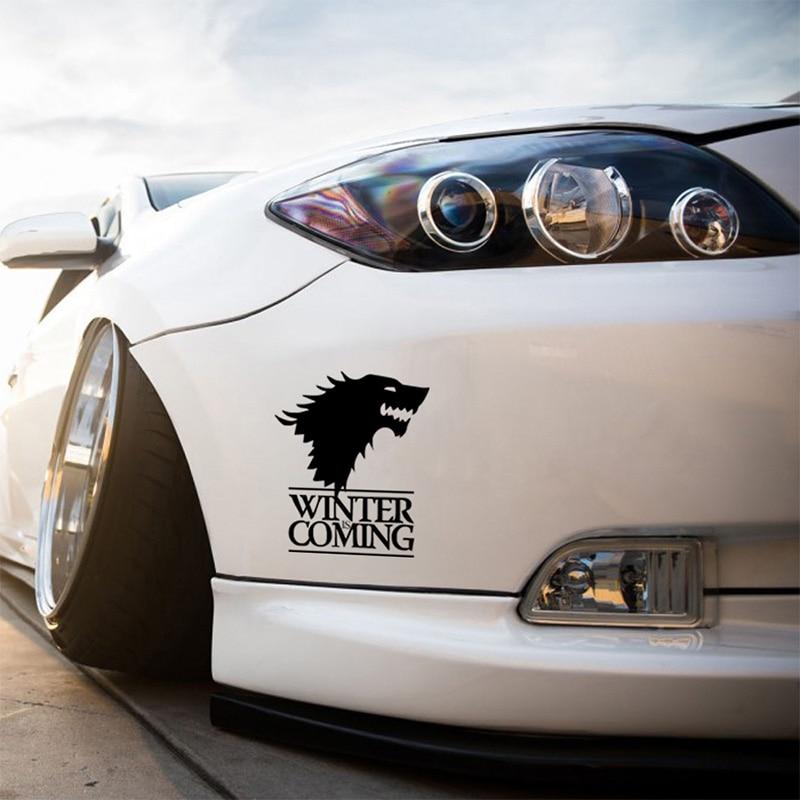 1 stk SEEYULE Vinteren kommer Wolf Game of Thrones Bilklistermærke - Udvendigt biltilbehør - Foto 2