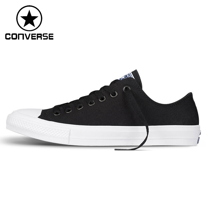 Original New Arrival  Converse Chuck Taylor ll Unisex Skateboarding Shoes Canvas Low top  Sneakers new converse chuck taylor all star ii low men women s sneakers canvas shoes classic pure color skateboarding shoes 150149c