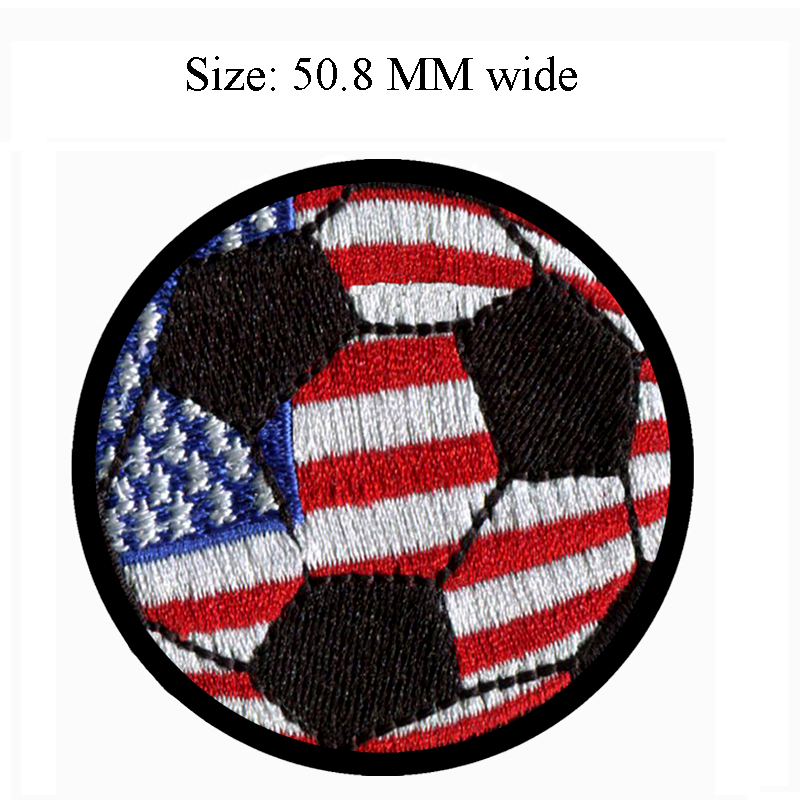 US $2 99 |50 8MM wide USA flag patch of soccer ball custom cloth  patch/football/shoe patch-in Patches from Home & Garden on Aliexpress com |  Alibaba