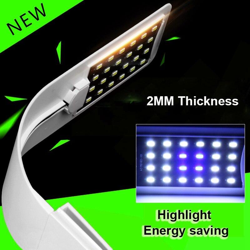 New Arrival Adjustable 10W LED Fish Tank Aquarium Light Energy Saving 24leds LED Lights AC220V Fish Lighting Clip Lamp EU Plug