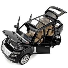 1:24 сплав модель автомобиля высокого класса SUV L = 18 см(# M923-6) W/6 дверей открытый отличное качество для коллекции светильник/звук дизайн