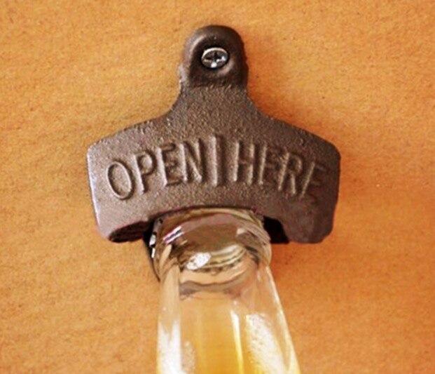Image 2 - 3 шт./лот 75x60 мм. Промышленный Ретро декоративный крючок открывалка для бутылок пива на стене-in Крючки и направляющие from Дом и животные