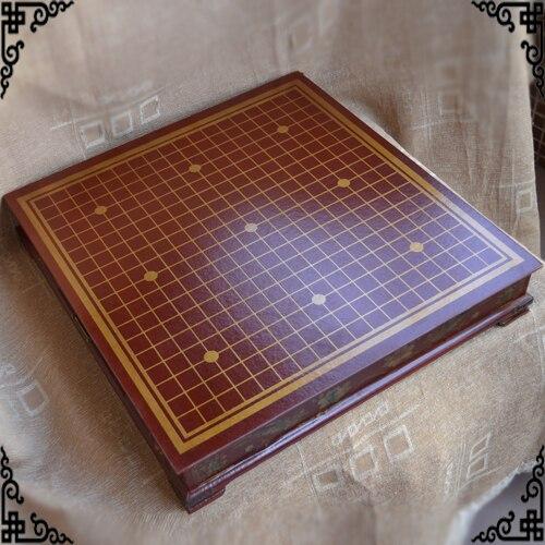 Jeu d'échecs Go jeu d'échecs Go rétro Antique jeu d'échecs Weiqi enfants adultes ensemble d'échecs belle échiquier en bois beau cadeau