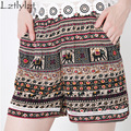 2016 Shorts Women Selling Loose Lace Casual Broadcloth New arrived Hot Sale Summer Women's Short woman Baggy Elastic Waist