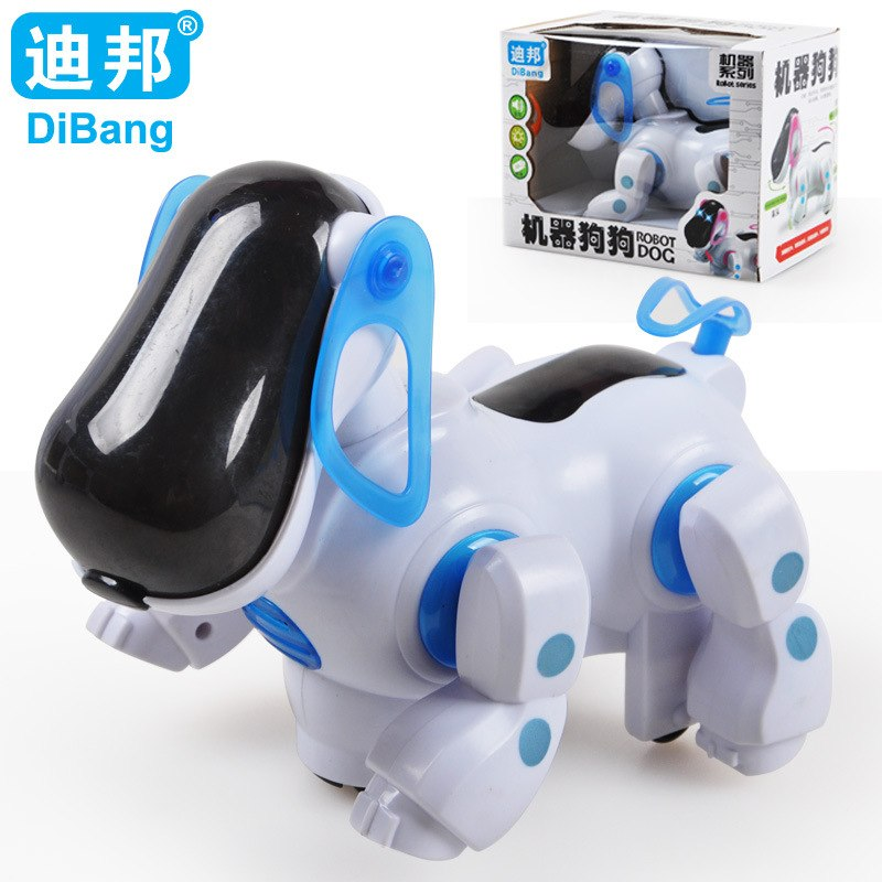 Children Electric Dog Robotic Pets Dogs Light Music Shaking Head Walk Tail Funny Toys hsq001 essence barrel shaped shaking head dog style plastic iron ornament brown