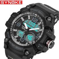 SYNOKE G Military Digital Sports Men's Watches S Waterproof Male Clock Electronic Wristwatches Shock Men Black Big Army Watch