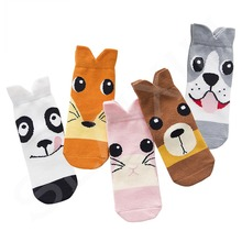 Cute Pattern Print Cotton Kids Socks Breathable Boys Girls Socks For Children 5 Pair/Lot