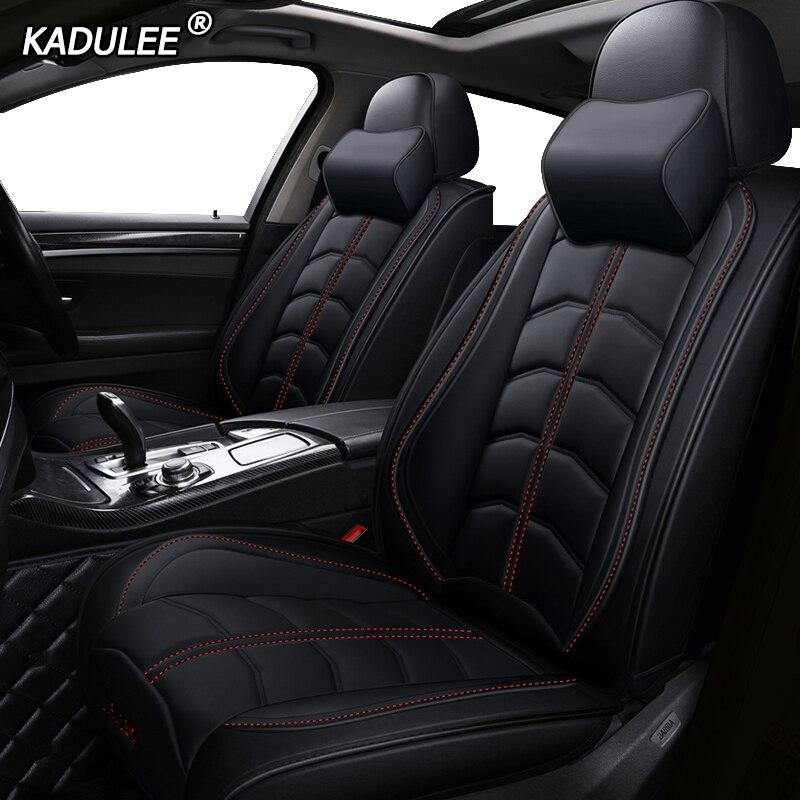 Housses de siège de voiture en cuir de luxe KADULEE pour Jeep Commander compas Grand Cherokee Renegade Wrangler Jk accessoires de voiture style voiture