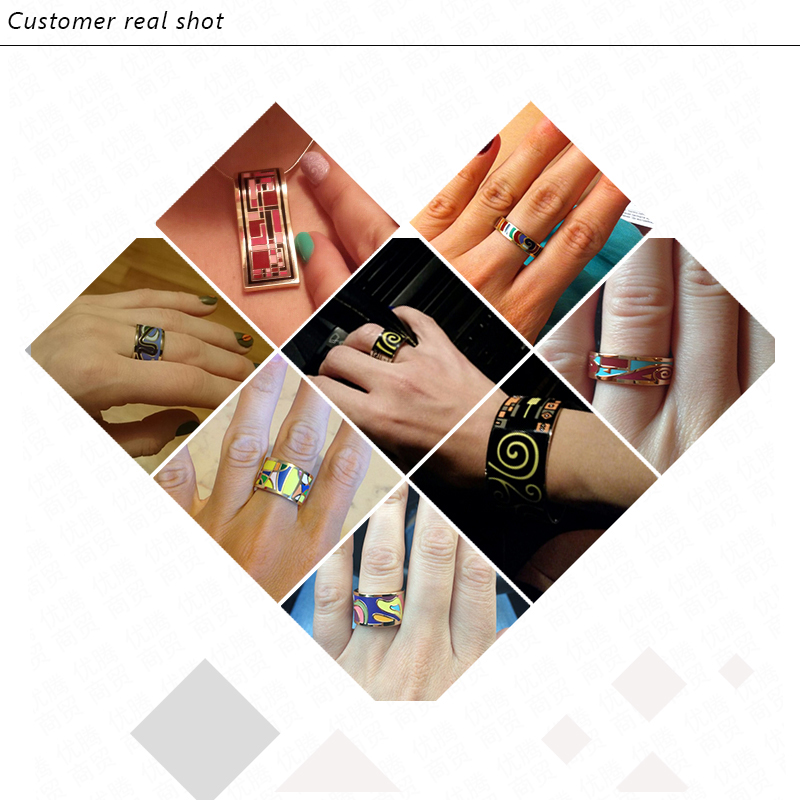 Retro elegant classic stainless rings for women 4