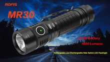 Rofis MR30 XHP35 HI LED 1600lm Rechargeable Flashlight beam throw 335m outdoor torch + 21700 5000mAh battery(China)