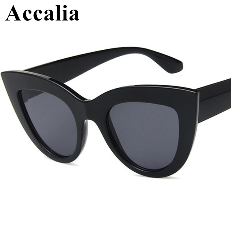 Women's Sunglasses Apparel Accessories New Cat Eye Women Sunglasses Tinted Color Lens Men Vintage Shaped Sunglasses Female Eyewear Blue Sunglasses Uv400 Shades Black Reasonable Price