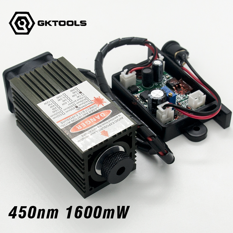 450 nm, 1600 mW 12V High Power Laser Module have TTL,Adjustable Focus Blue Laser module. DIY Laser engraver accessories. цена 2017