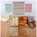 1400ml Healthy Material Lunch Box Double Layer Bento Boxes Large Capacity Microwave Food Storage Container Lunchbox BPA Free