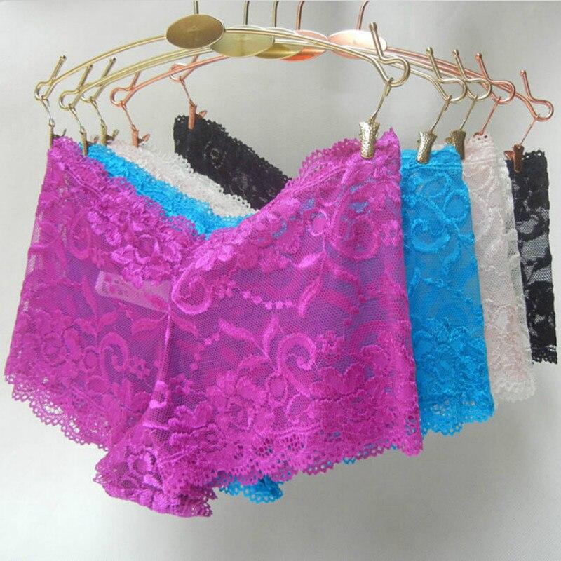 Calcinha de renda stretch feminina, lingerie sexy sem costura meninos plus size s m g xl 2xl 3xl 4xl