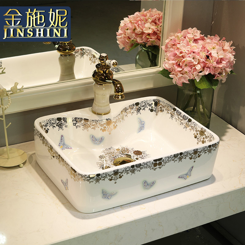 Moderne comptoir bassin rectangle bassin évier lavage de mode bassin