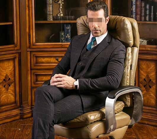 Leather office High back chair staff chair lift the study is chair of large chair bent wood leather boss high back manager staff meeting office chair