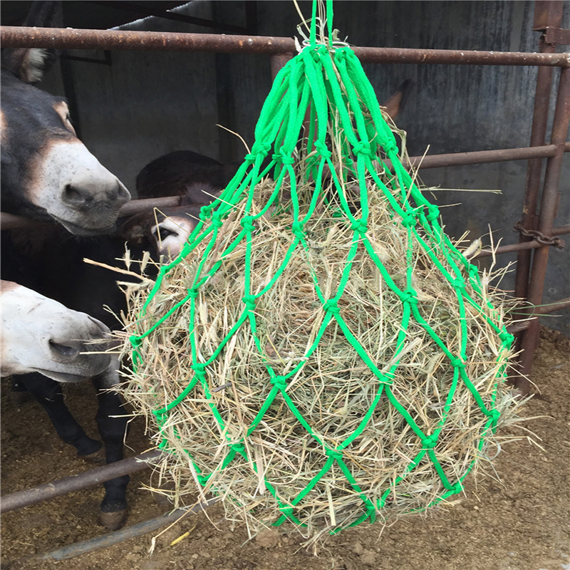Hay Bag Fodder Bags Horse Forage Net Bag For Horse Room Mesh Hay Sack Horse Racing Equipment Care Products Stable Supplies