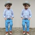 Fashion Gentleman Boys Suit Baby Costume Kids Clothes Long Sleeve Shirts+Pant 2pcs Set Toddler Boy Clothing Spring Autumn BC1121