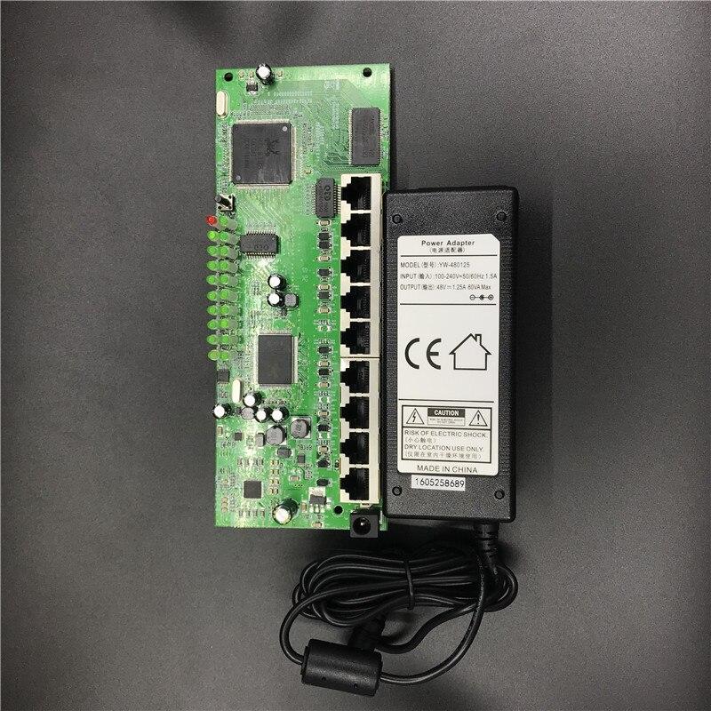 Le fabricant de module de routeur de POE de 9 ports a vendu le module complet de routeur de Gigabit 10/100/1000 M POE 48V2A