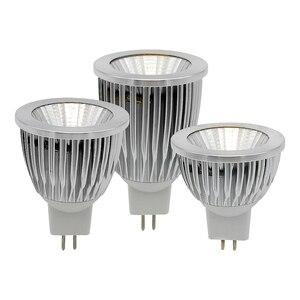 Светодиодный прожектор MR16, Алюминиевый, с регулируемой яркостью, 12 В, 9 Вт, 12 Вт, 15 Вт