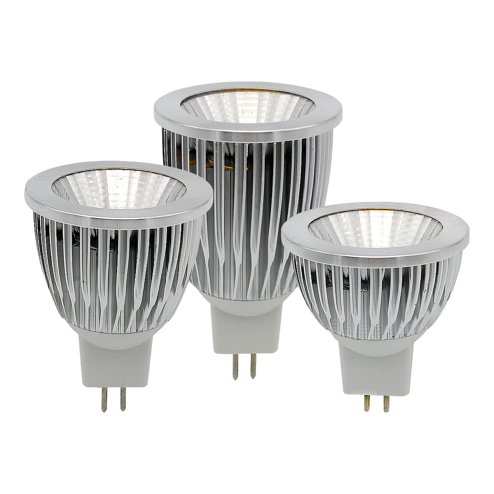 High Quality MR16 AC / DC <font><b>12V</b></font> 9W <font><b>12W</b></font> 15W <font><b>LED</b></font> COB Spotlight Dimmable Light Aluminum Bulb For Chandeliers Replace Halogen Lamp image