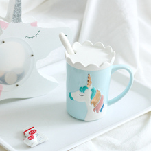 3D Relief Unicorn Coffee Mug with Spoon