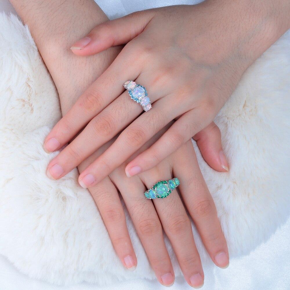 Orange fire opal ring 3