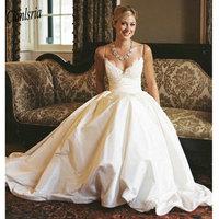 ТРАПЕЦИЕВИДНОЕ кружевное свадебное платье с v образным вырезом без рукавов на бретельках свадебное пляжное платье Vestidos de novia