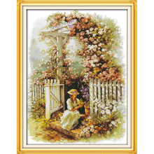 Everlasting love Christmas Garden girl Ecological cotton Cross Stitch kits 11CT Printed  DIY gift new year decorations for home