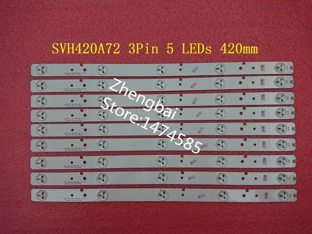 Beented 18 Stuks/partij Nieuwe LED strip SVH420A72 3Pin 5 LEDs 420mm voor LED42EC260JD LED42K20JD LED42EC260 ED42K30JD-in Vervangende onderdelen en toebehoren van Consumentenelektronica op  Groep 1
