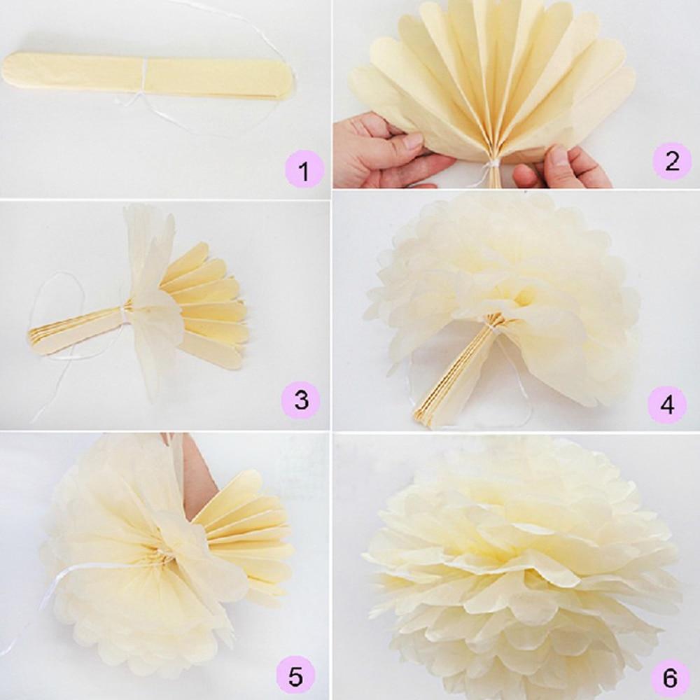 Aliexpress Buy 5pcs Diy Goldsliver Paper Pompoms Tissue Paper