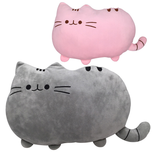 40x30cm pusheen cat stuffed plush toys biscuits cat animal doll