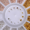 1 Caixa de Aço Talão Strass Studs 0.8mm/1.0mm/1.2mm/1.5mm Mista Prego 3D decoração Roda Manicure DIY Nail Art Decoração