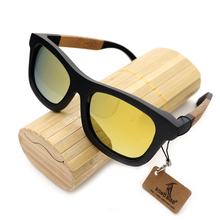 BOBO VOGEL ZBG017f Schwarz Bambus Holz Polarisierte Sonnenbrille Männer Frauen Gespiegelt Coating Brille Uv-schutz Kreative Bambus Box