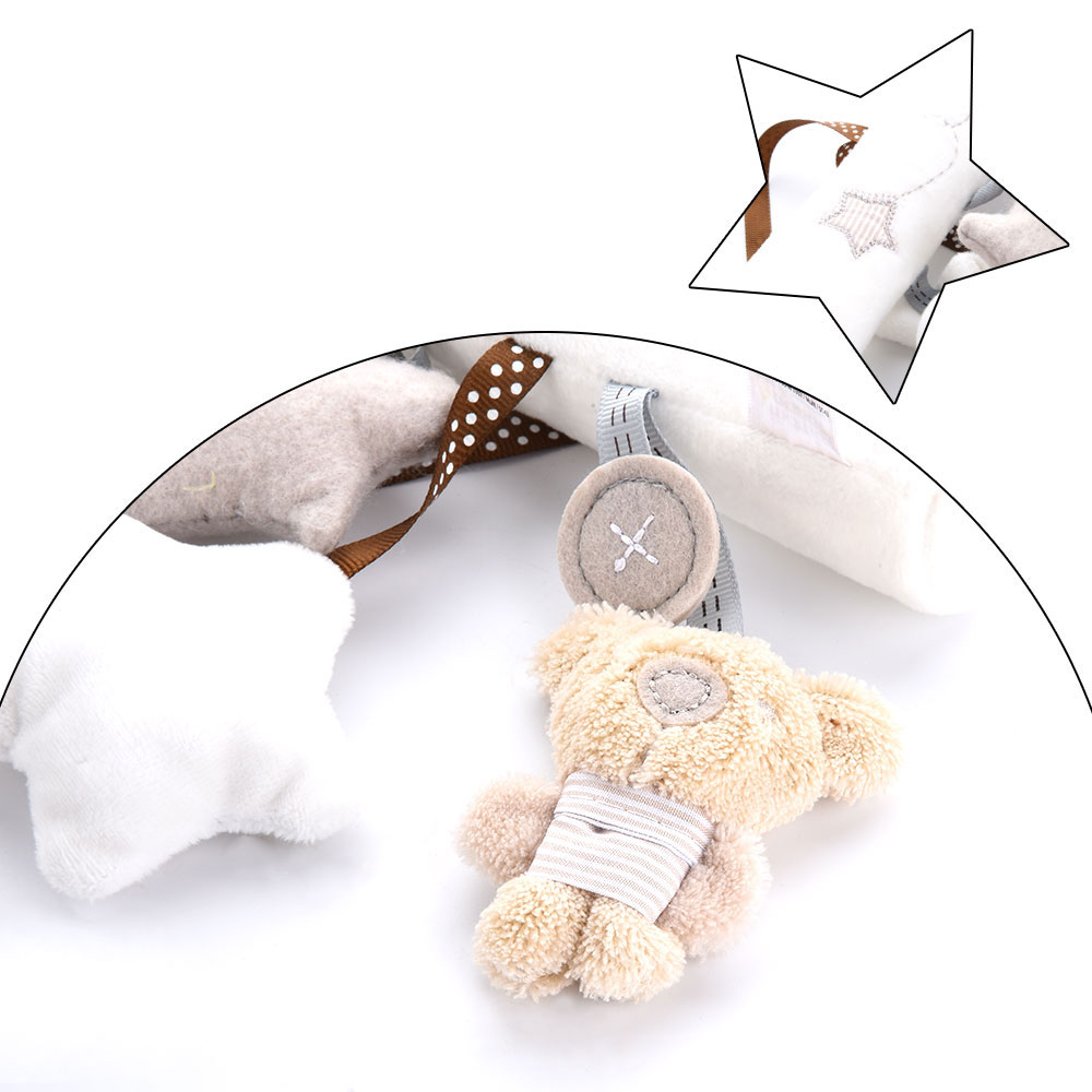 Image 3 - Bearoom Baby Rattles Cute Stroller Toy Musical Mobile Baby Toys Hand Bell Rabbit Music Doll Bed Bell For Infant Stroller-in Baby Rattles & Mobiles from Toys & Hobbies