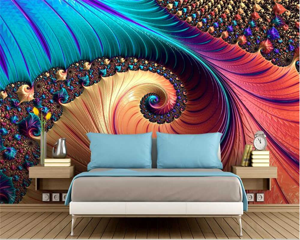 Beibehang Hudas Beauty Papel De Parede Abstract Decorative Painting Fashion Aesthetic Jewelry Background Mermaid Wallpaper Aliexpress