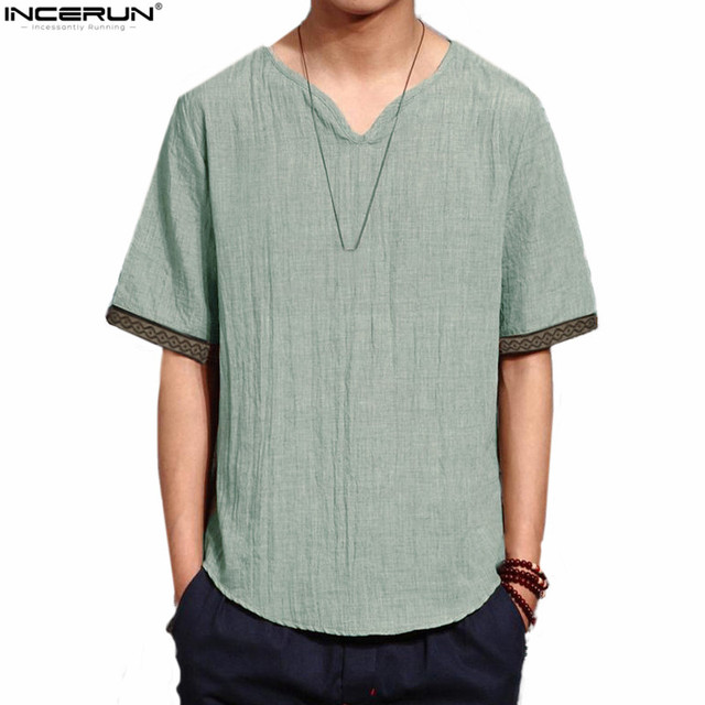 ddb637171e Linen Men Shirts Chinese Culture Men s Shirt Slim Short Sleeve Summer Men  Shirts XXL Breathable Plus size Brand 2018 Clothes