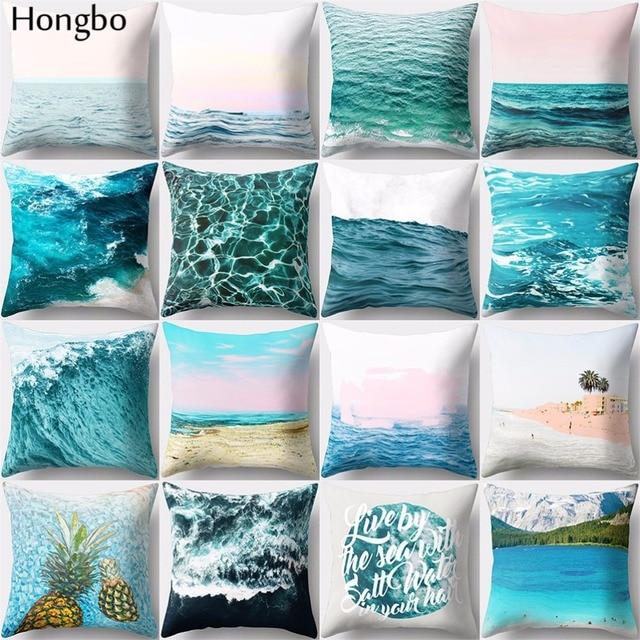 Hongbo 1 pz Acqua di Mare Increspature Fodere per Cuscini Decorazioni Per La Cas