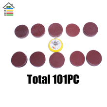 101PC Sanding Disc 50mm 40-400 Mixed Grit Sander Polishing Paper 2 inch Pad Plate Abrasive Tools Set for Dremel 4200 4000