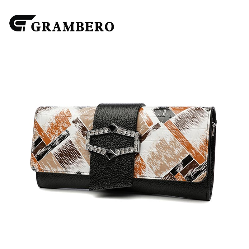 Modern Lady Banquet Clutch Wallet Genuine Leather Top Leather Cover Shoulder Bag Fashion Crossbody Messenger Bags Birthday Gifts casual solid color top leather shoulder bag heart shaped decoration cover fashion women clutch wallet crossbody messenger bag