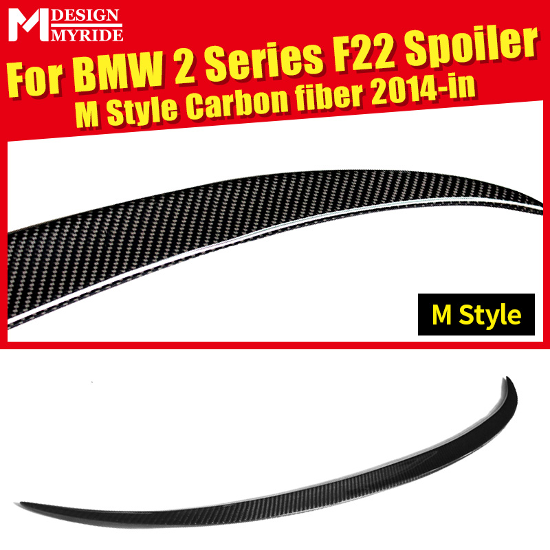 F22 Rear Spoiler Tail AEM-Style For 2 Series 220i 228i 235i Carbon Fiber Trunk Wing car styling 2014+