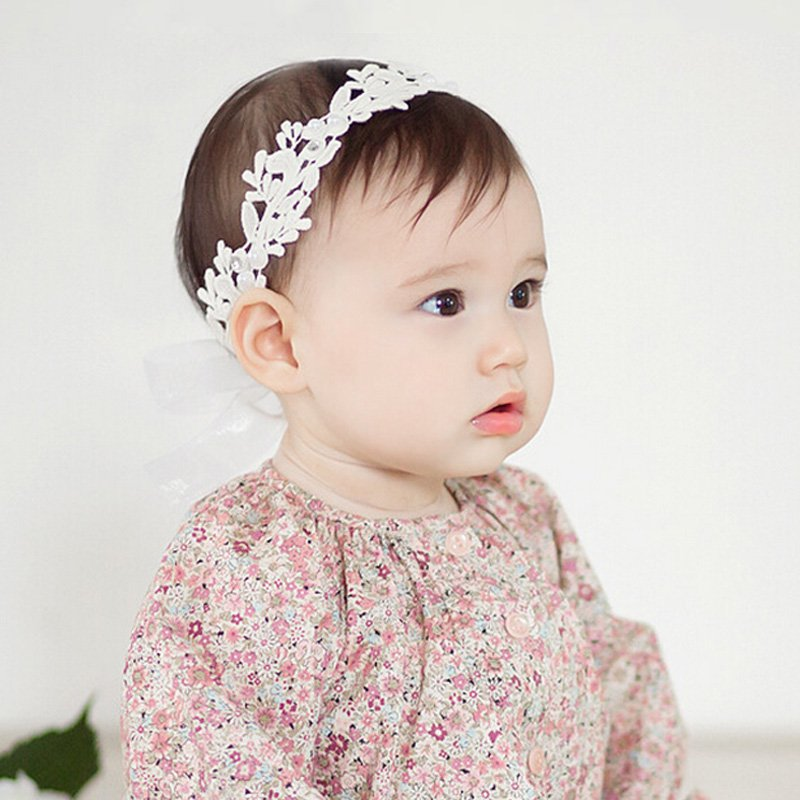 White Lace Cute Bows Bandeau Fille Faixa De Cabelo Baby Girl Headband Hairband Girls Flowers Headbands Hair Accessories Lovely