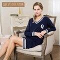 Qianxiu пижамы для девочки Осенью новый популярный шить ночная рубашка комфортно для женщин
