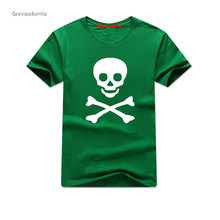 Gresanhevic 2017 Skull and bones New Fashion New Fashion Men's T-shirts Cotton t shirts Man Clothing Wholesale