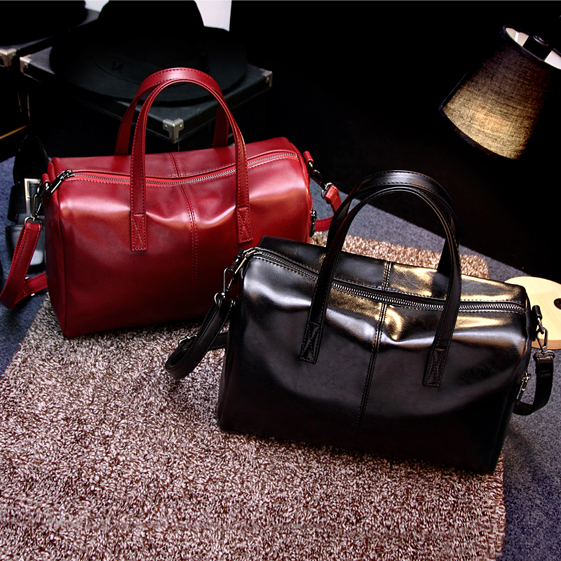 ФОТО 2017 Fashion Soft Leater Women'S Bags  One Shoulder Cross-Body Bucket Female  Handbag  Free Shipping
