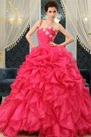 Bealegantom 2017 Red Ball Gown Quinceanera Dresses Off Shoulder Sweet 16 Dresses Party Gown Vestidos De 15 Anos QA1042