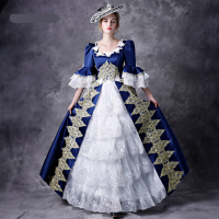 New European Court Princess Dressed Model Drama Stage Performance Dresses Queen Dresses British Annual Convention Dresses