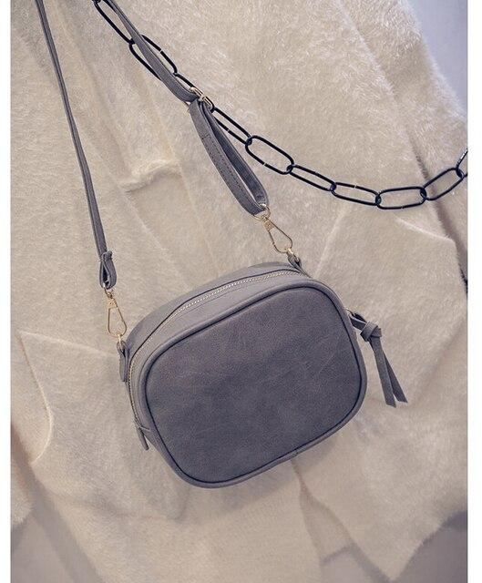 2017 New Women Bag Scrub Brief Vintage Bag Mini Women's Handbag Girls Messenger Bag Female Crossbody Shoulder Bag