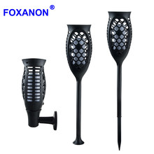 Foxanon Led Solar Lamp Garden Light Waterproof Outdoor Solar Torch Light Smart Solar LED Flame Lights For courtyard Decoration(China)