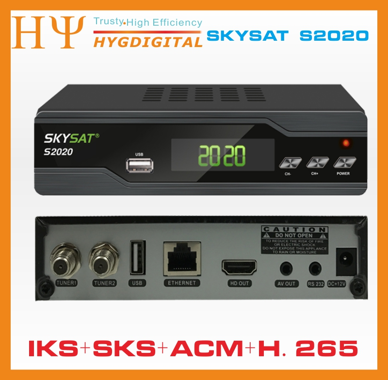 5PCS/LOT [5PCS] SKYSAT S2020 IKS SKS VOD ACM IPTV M3U H.265 most stable server Twin Tuner Satellite Receiver